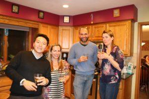 HT, Michelle, David and Mieke at Dawn's house